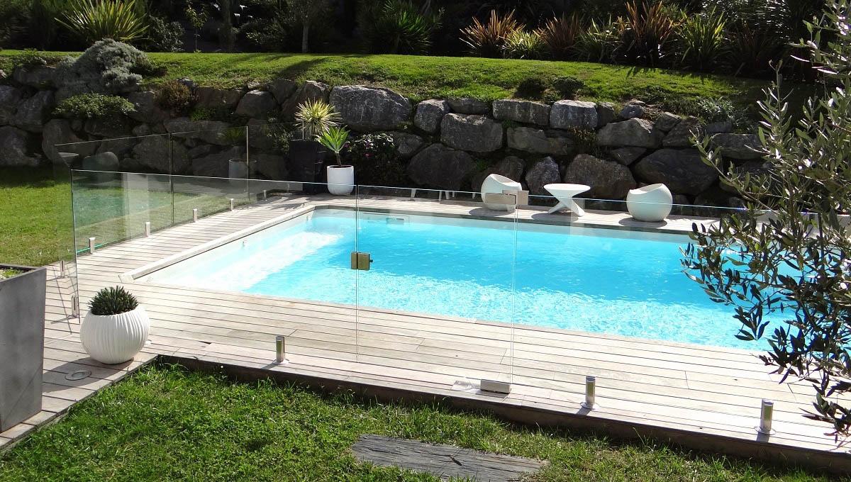 Barriere de piscine en verre Bayonne