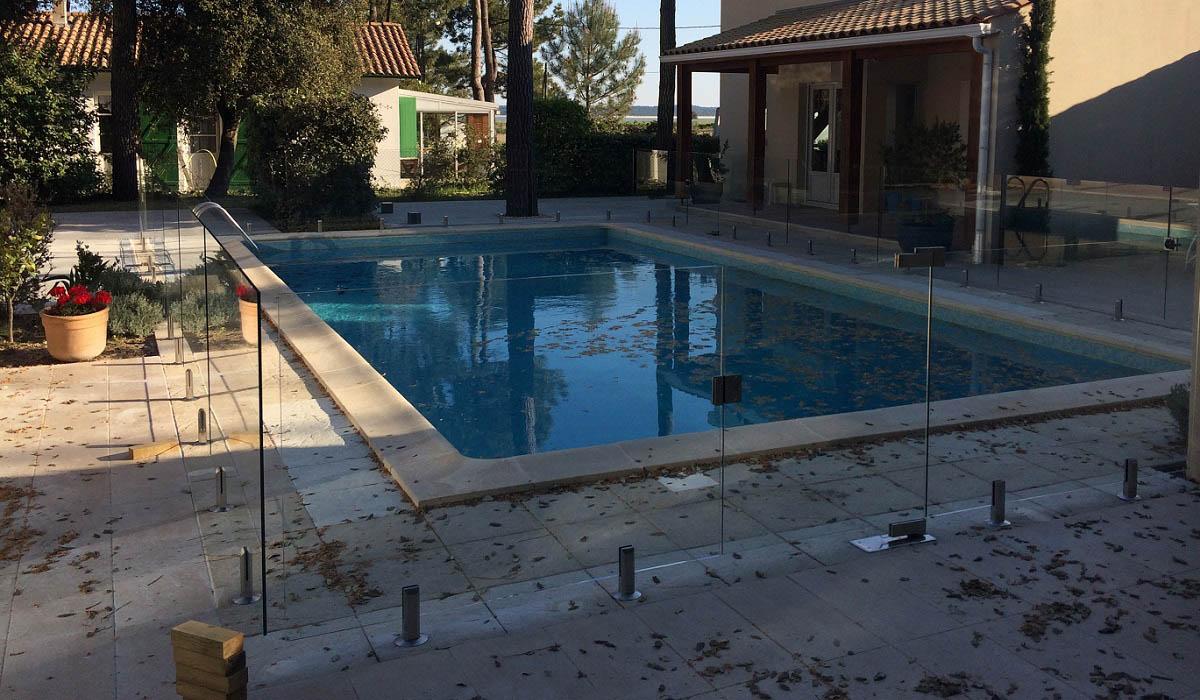barriere piscine transparente verre sans poteau ile oleron