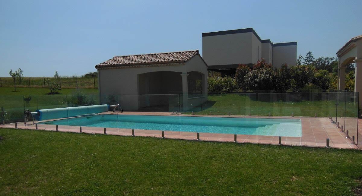 barriere piscine transparente verre sans poteau toulouse