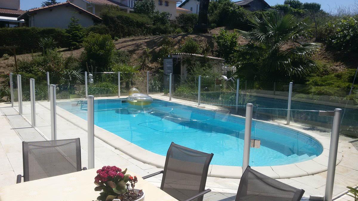 barriere piscine verre biscarrosse