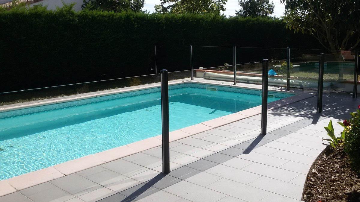 barriere piscine verre hossegor