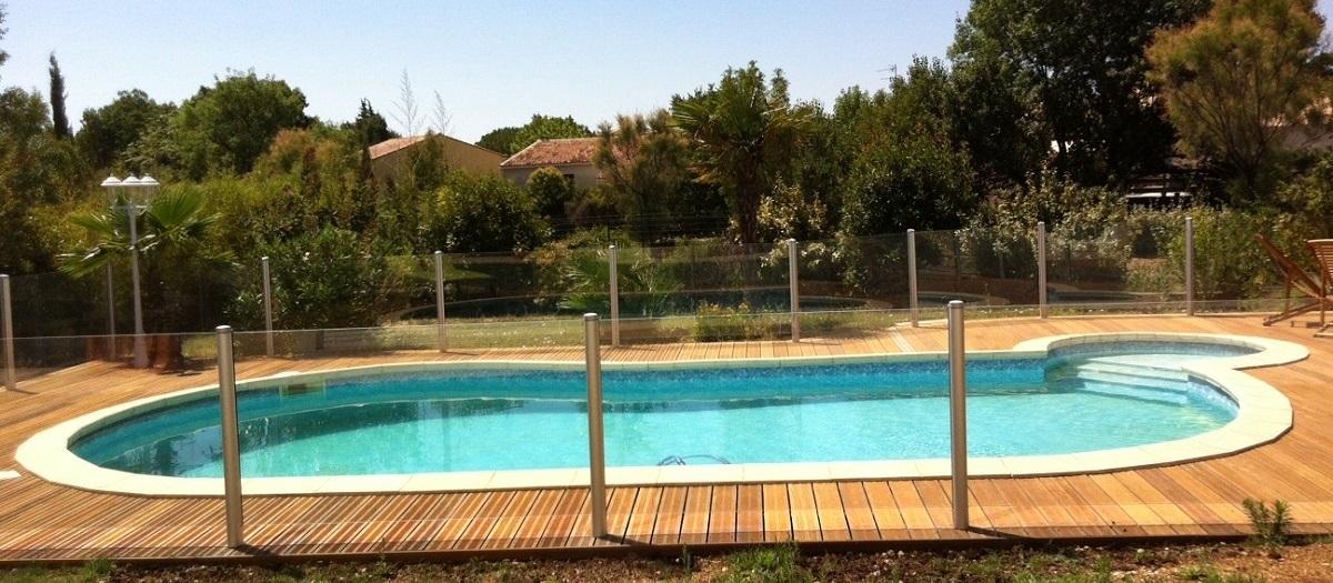 barriere piscine transparente verre montpellier bandeau