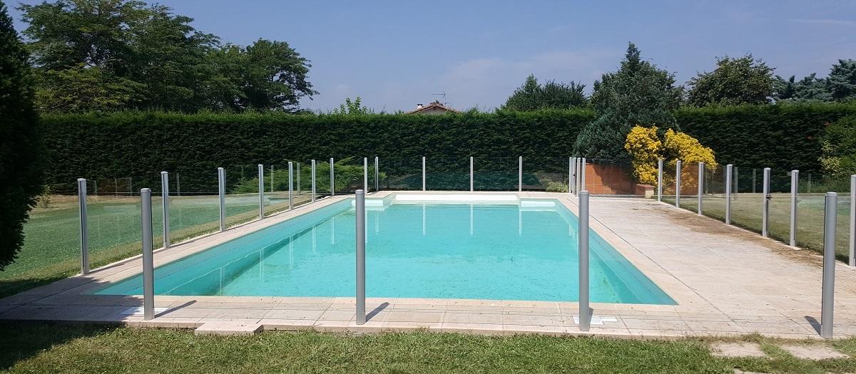 barriere piscine transparente verre sans poteau gers bandeau
